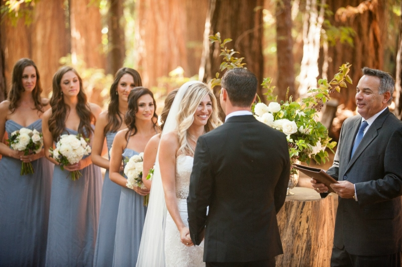 I love ceremonies that are nestled in the redwoods. Dreamy wedding at the Santa Lucia Preserve. Photography by Larissa Cleveland Photography. Coordination by Coastside Couture. Flowers by Seascape Flowers. Photo Booth provided by the Booth