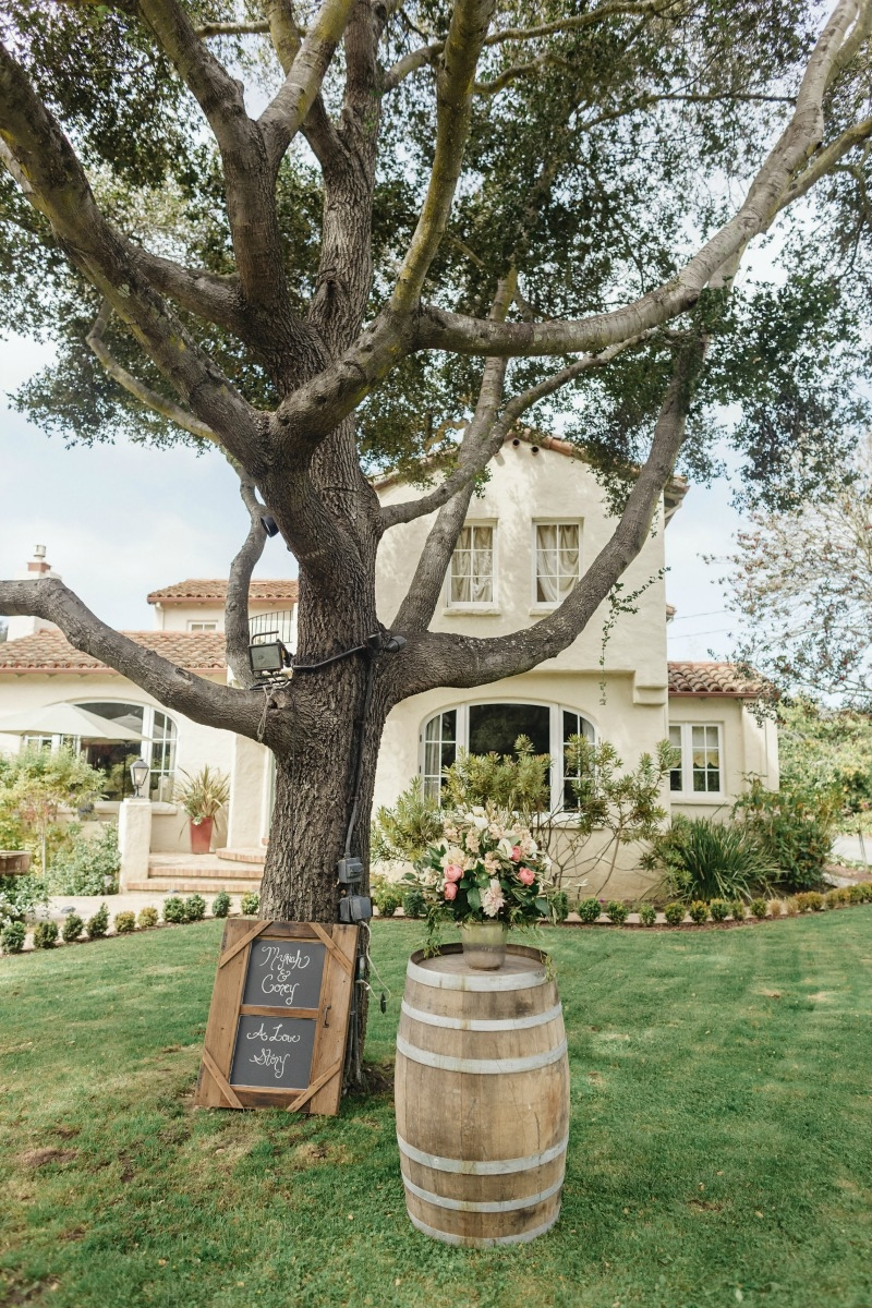 This wedding had all of the right rustic touches! Beautiful wedding at Rancho Soquel. Flowers by Seascape Flowers. Photography by Jana Williams Photography. Coordination by The Wedding Connection. Cake by The Buttery.