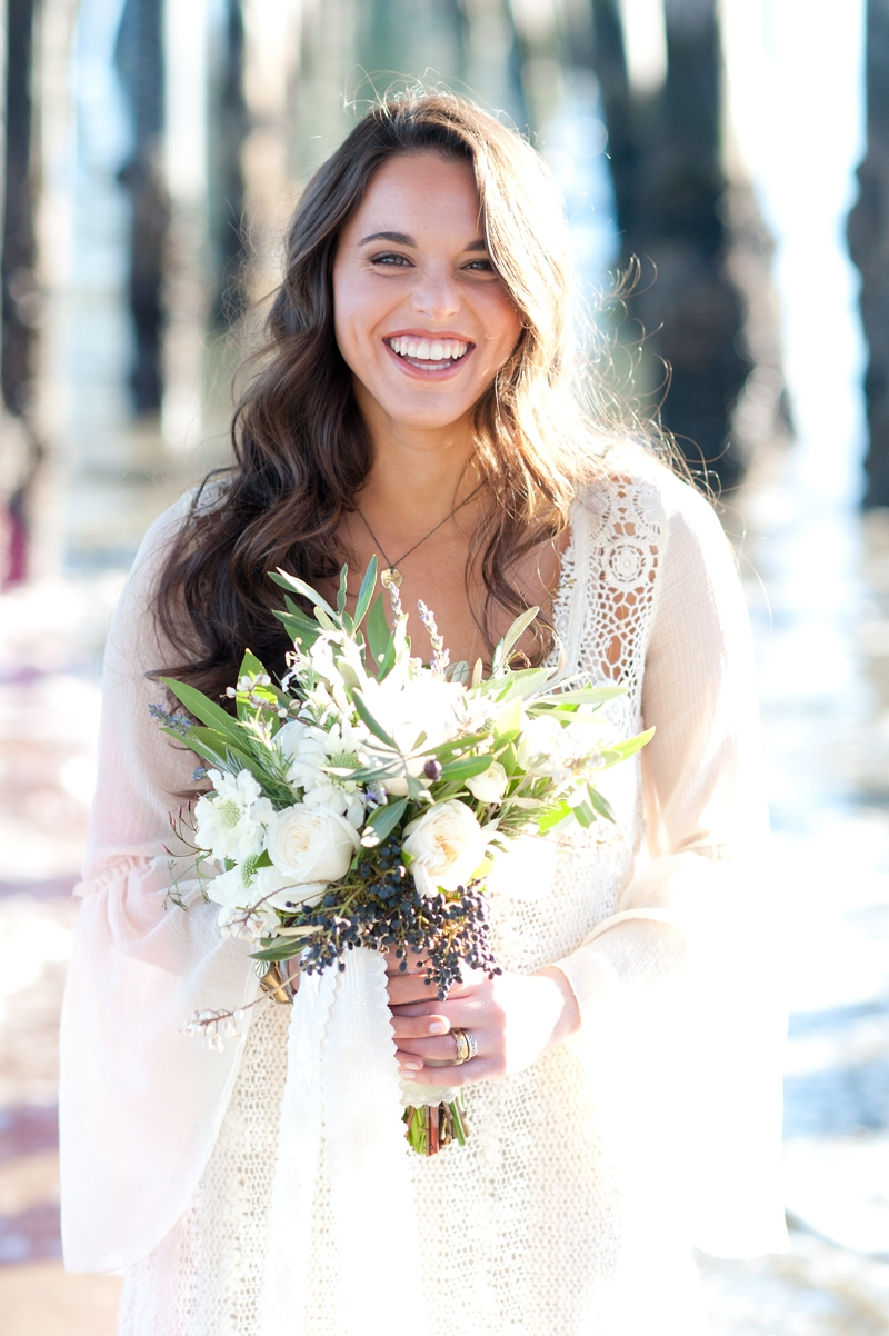In love with this bouquet! Flowers and design by Seascape Flowers. Photographed by Susannah Gill- Photographic Storytelling. Cake by the Buttery. Paper Goods by Brenna Catalano Design Studios.Hair and make up by Megan Smith of Tranquil Spa. Dress fro