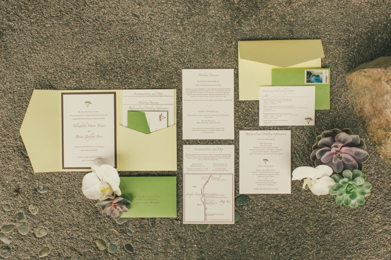 Amazing Invitation suite styled by Carlie. Flower by Seascape Flowers. Coordinated by Coastside Couture. Photographed by Carlie Stasky Photography. Catering by A Taste of Elegance. Rentals from Classic Rentals. Tent from Chic Rentals. Hair by Melissa