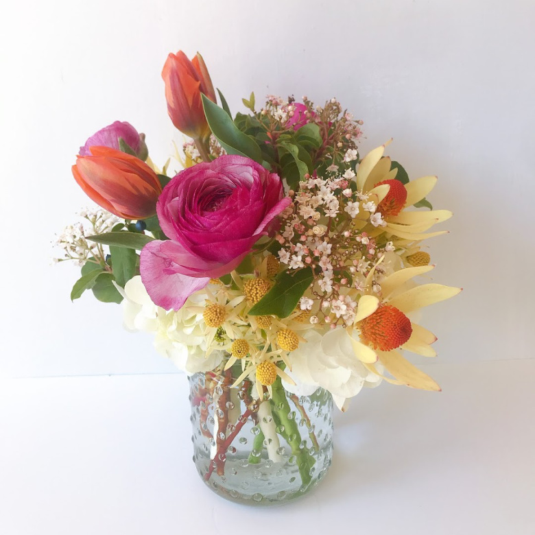 Fresh flower bouquet ready for delivery in Santa Cruz, California